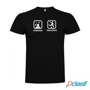 T-shirts casual Kruskis Problem Solution Play Football