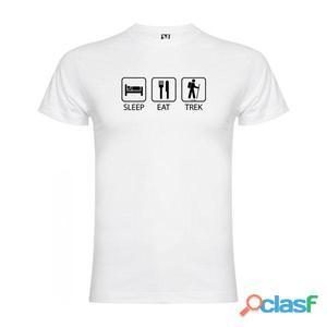T-shirts casual Kruskis Sleep Eat And Trek