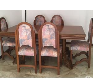 Tavolo in legno + 6 sedie in legno coordinate