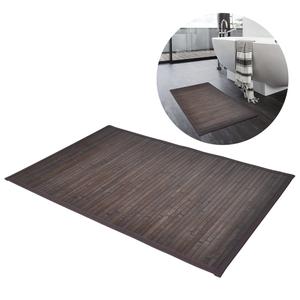 vidaXL Tappeto da bagno in Bamboo 60 x 90 cm Marrone scuro