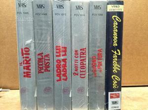6 Videocassette VHS film di Alberto Sordi