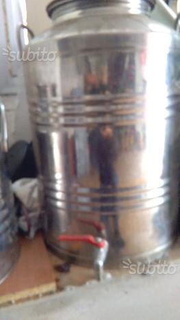 Fusto in acciaio inox per olio o vino lt. 50