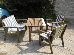 Mobili in legno, per giardino/terrazzo