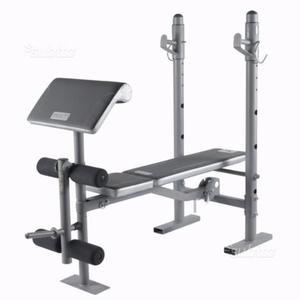 Panca Multifunzione + kit pesi + 2 piastre da 5 kg