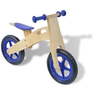 vidaXL Bicicletta senza pedali blu in legno