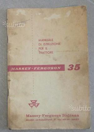 Libretto uso e manutenzione Massey Ferguson 35