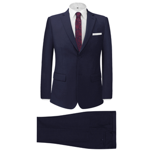 vidaXL Vestito elegante da uomo 2 pezzi blu marino taglia 52