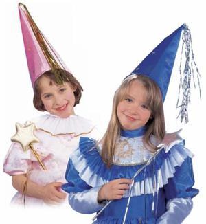 Confezione due set cappello e bacchetta magica bambina nei