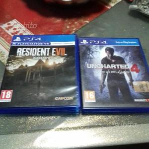 Giochi ps4 resident evil 7 uncharted4