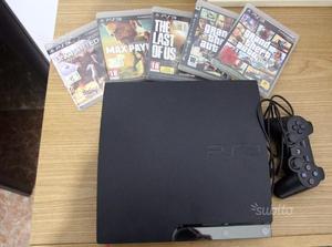 Ps3 slim + cinque giochi + controller + hd 120gb