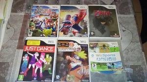 Sei Giochi Wii Zelda,Spider Man,Naruto,Smash Bros