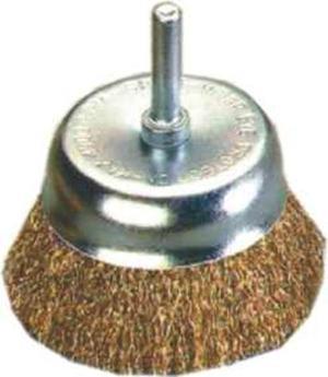 Spazzola a tazza filo ondulato in acciaio ottonato con