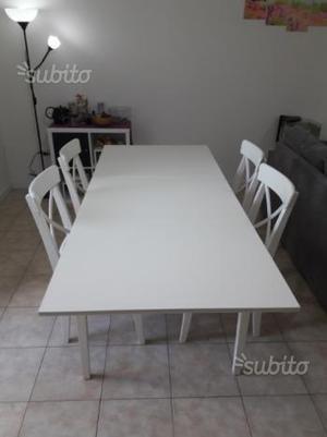 Tavolo e 4 sedie ikea