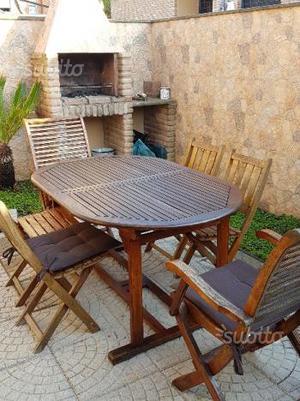 Tavolo per esterno da giardino in legno posot class for Tavolo in legno per esterno