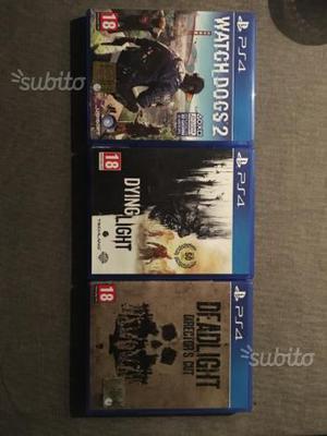 Tre giochi ps4
