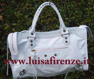 borse borsa in vera pelle donna bianco nuova Euro 80