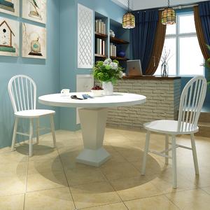 vidaXL Set 2 pz Sedia da tavola arrotondata in legno bianca