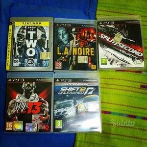 Giochi Ps3- Need for speed - WWE - Army of two ecc