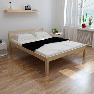 vidaXL Letto in legno robusto di pino 200 x 140 cm colore
