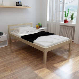 vidaXL Letto in legno robusto di pino 200 x 90 cm colore