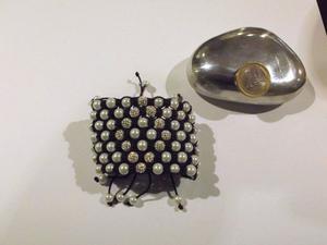 Bracciale in Cordoncino intrecciato, Perle e Cristalli -