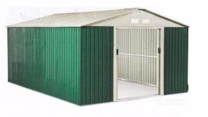 Casetta metallo box attrezzi verde l 260 x p 205 posot class - Porta attrezzi da giardino ...