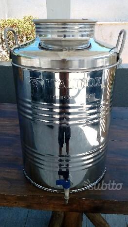 Contenitore acciaio inox x olio d'oliva 50lt ITAL