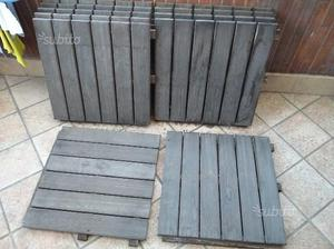 Pavimento legno teak da esterno quadrotti posot class