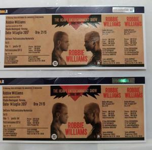 2 Biglietti Robbie Williams Verona POLTRONISSIME