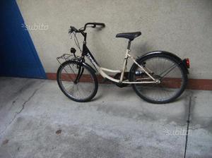 Bicicletta bianca e nera