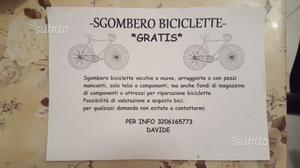 S.g.o.m.b.e.r.o. biciclette g.r.a.t.i.s