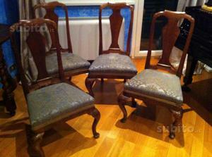 4 Sedie in legno del XVIII secolo