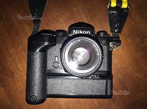 Nikon fe con obbiettivo nikon e anni 80 con motore