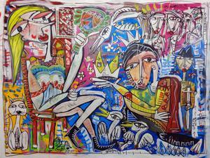 quadri a olio artista famoso siviglia alessandro