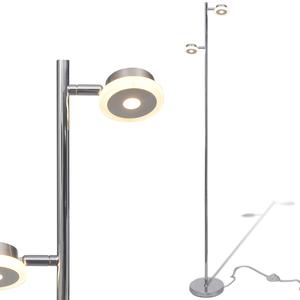 vidaXL Lampada da terra regolabile con 2 lampadine a LED di