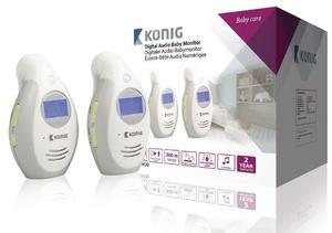 Baby Monitor Audio 2.4 Ghz Bianco E Grigio K�¶nig