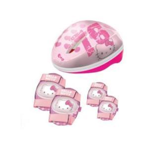 Caschetto+protezioni Hello Kitty