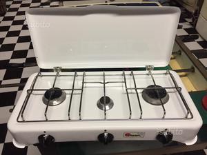 Bst cucina a gas da campeggio 3 fuochi posot class - Cucina portatile ...