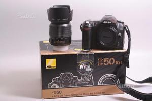 Fotocamera digitale reflex nikon d50+nikon