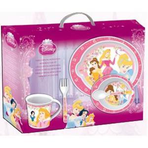 Set regalo 5 pezzi microondabile Principesse Disney