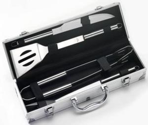 Set valigetta in alluminio da 4 pezzi in acciaio inox