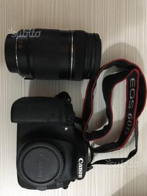 Canon 60D corpo macchina e obiettivi