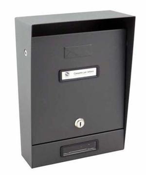 Cassetta portalettere in lamiera antracite Silmec