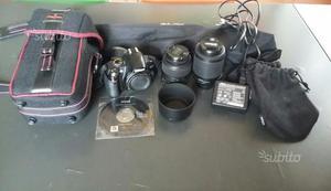 Nikon d + ob.  + ob.  + accessori