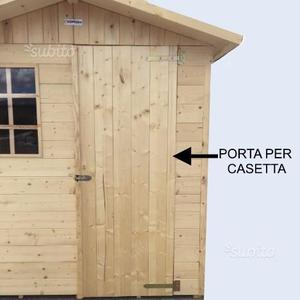Porta in legno per casetta
