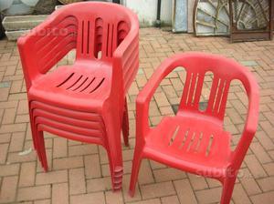 14 sedie in plastica da giardino posot class for Sedie in ecopelle rosse
