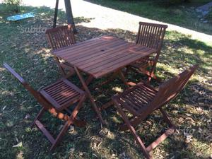 4 sedie3 da impagliare seggiole in legno posot class for Tavolo da giardino usato