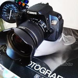 Canon 650D + 3 batterie + 5 obiettivi + accessori