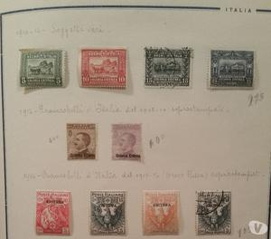 Francobolli Colonie Italiane-ERITREA
