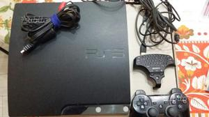 PS3 slim 120GB+joypad+9giochi+tastierina